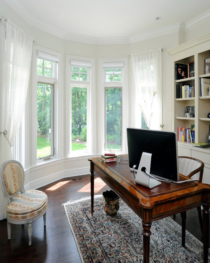 traditional home office by Chuck Mills Residential Design & Development Inc.