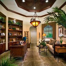 Tropical Home Office by de'Shea Interiors, Inc.