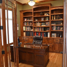 Traditional Home Office by Zach Building co inc