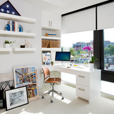 Transitional Home Office by ae design