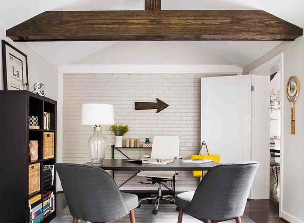 Midcentury Home Office by Terracotta Design Build