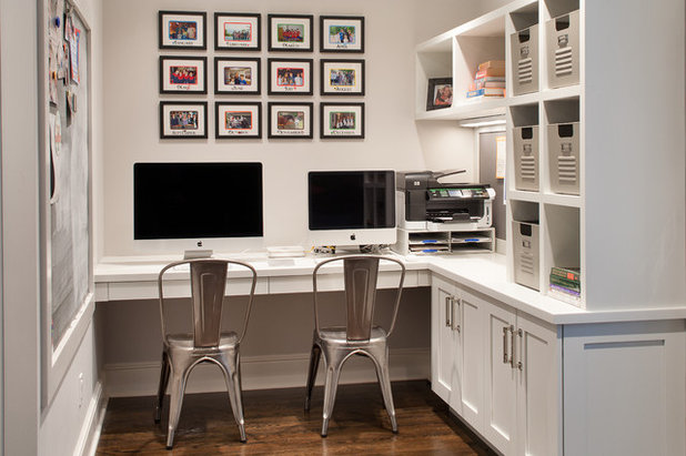 Transitional Home Office by DEANE Inc | Distinctive Design & Cabinetry
