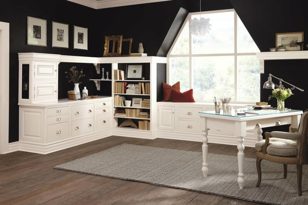 Traditional Home Office by MasterBrand Cabinets, Inc.