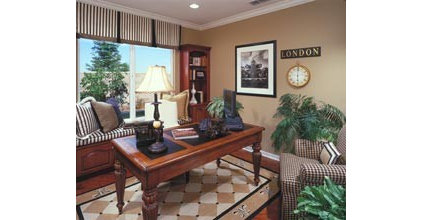 Traditional Home Office by Kerrie L. Kelly