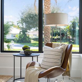 Trendy home office photo in Miami