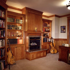 Traditional Home Office by DK Martin Construction