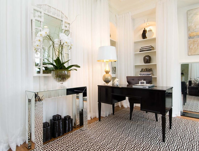 Contemporary Home Office by Tiffany Eastman Interiors, LLC