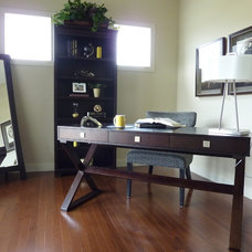 Contemporary Home Office by Willow Tree Interiors