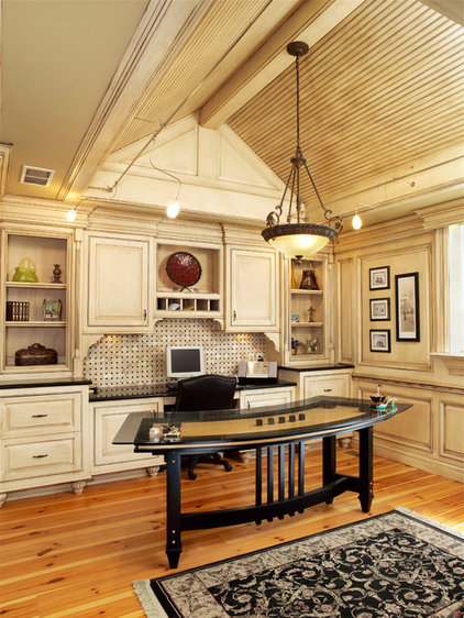 Traditional Home Office by Albrecht Wood Interiors