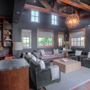 Desert Dwelling for Sports Enthusiasts | Office + Media Room