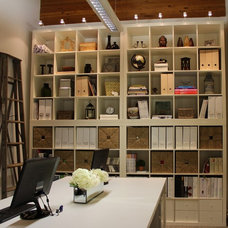 Contemporary Home Office by Janis Gosbee Design Inc.