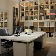 Eclectic Home Office by Janis Gosbee Design Inc.