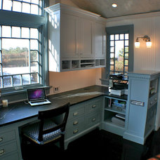 Traditional Home Office by Artisan Kitchens LLC