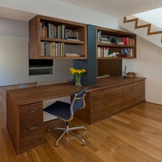 Contemporary Home Office by Art of Construction Inc