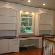 Traditional Home Office by Coralite Woodworks LLC.