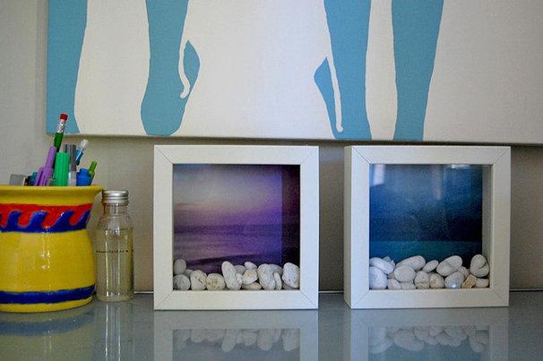 Beach Style Home Office by Dana Nichols