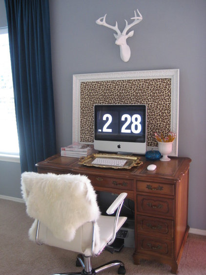 eclectic home office by Leah