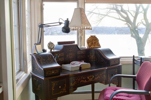 Traditional Home Office by Rikki Snyder