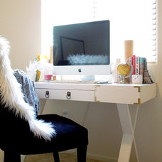 Contemporary Home Office DIY Campaign Style Desk