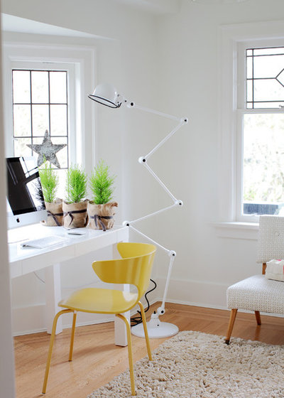 Eclectic Home Office by Sophie Burke Design