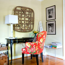 Eclectic Home Office by Lesley Glotzl