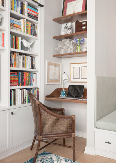 Transitional Home Office by Twelve Chairs Interiors