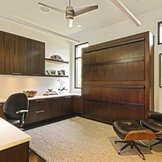 Contemporary Home Office by Caden Design Group