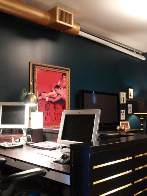 Hague Blue Home Office Design Ideas, Remodels & Photos