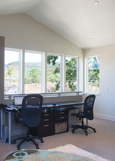 Transitional Home Office by Amy A. Alper, Architect