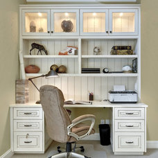 Traditional Home Office by K & K Custom Cabinets LLC