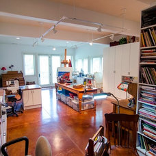 Traditional Home Office by Brown Wegher Construction