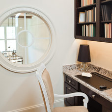 Transitional Home Office by Dream House Studios