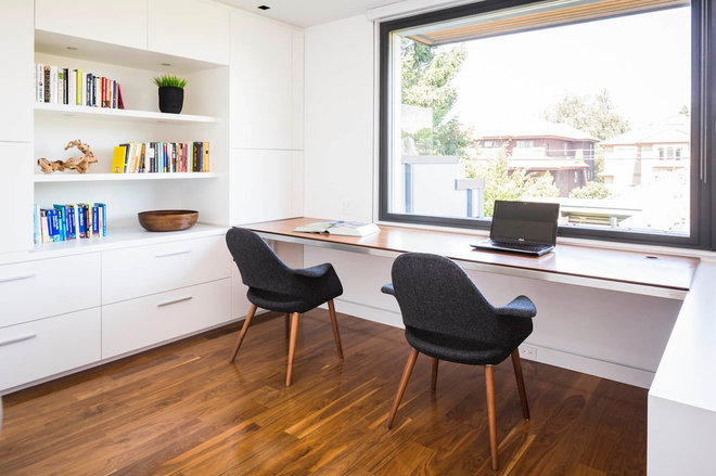 Contemporain Bureau à domicile by Natural Balance Home Builders
