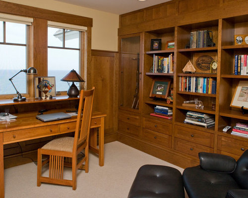 Beach Style Grand Rapids Home Office Design Ideas