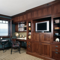 traditional home office by Sylco Cabinetry