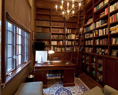 Home Office Library Home Design Ideas, Pictures, Remodel and Decor