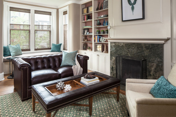 Transitional Home Office by Samantha Friedman Interior Designs