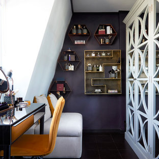 Inspiration for a contemporary home office in London.