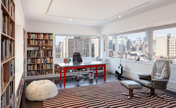 Contemporain Bureau à domicile by Adrian Wilson interior photography, NY