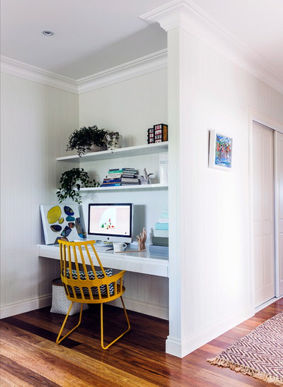 Beach Style Home Office by Penman Brown Interior Design