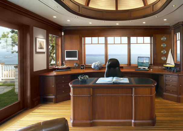 Contemporary Home Office by Siemasko + Verbridge