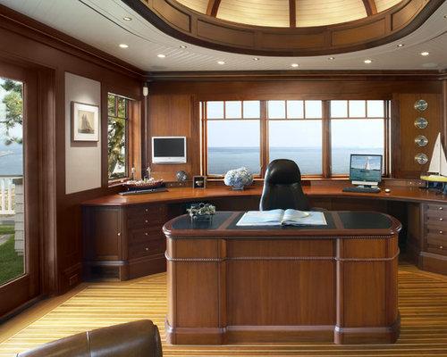 home office ceiling lighting. example of a trendy freestanding desk home office design in boston ceiling lighting s