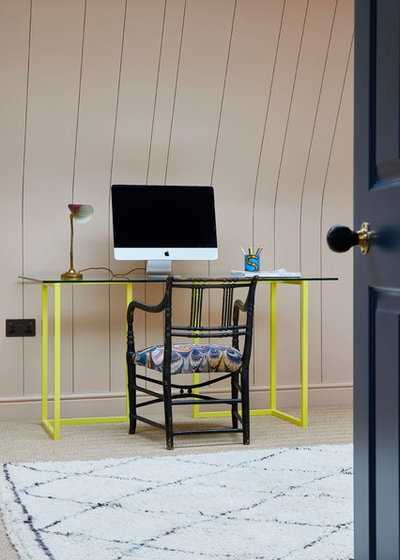 Eclectic Home Office & Library by Sarah Brown Interiors