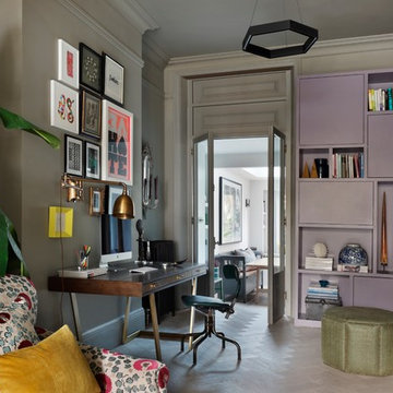 Eclectic Home Office & Library