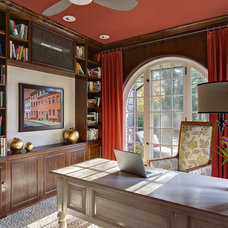 Eclectic Home Office by B Fein Interiors LLC