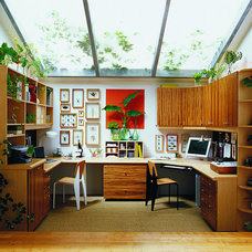 Eclectic Home Office by California Closets HQ