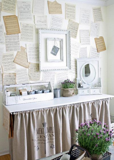 Romantique Bureau à domicile Eclectic Home Office