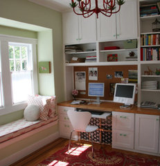 eclectic home office by Feldman Architecture, Inc.