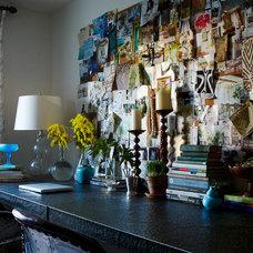 Eclectic Home Office by Lauren Liess Interiors