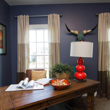 Eclectic Home Office by Leslie Lewis & Associates